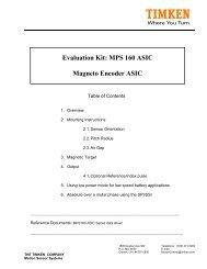 Evaluation Kit: MPS 160 ASIC Magneto Encoder ASIC - Timken