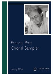 Francis Pott sampler booklet