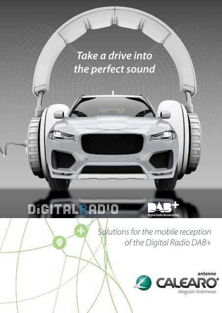 Calearo DAB+ solutions for the Digital Radio DAB+