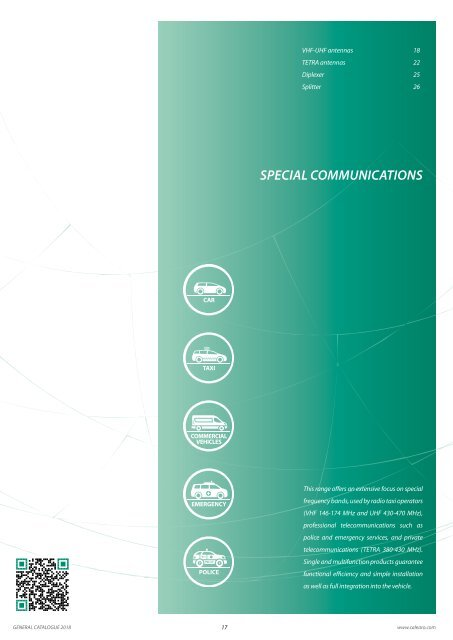 Calearo Antennas Special communications