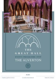The Great Hall Events Programme 2020