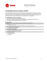 Air-Handling Systems, Energy, and IAQ - Trane