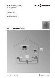 Serviceanleitung Vitohome 300 / Sonderfunktionen - Viessmann
