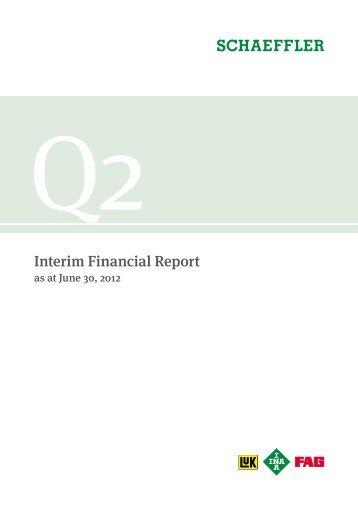Interim Financial Report Q2 2012 PDF - Schaeffler Group
