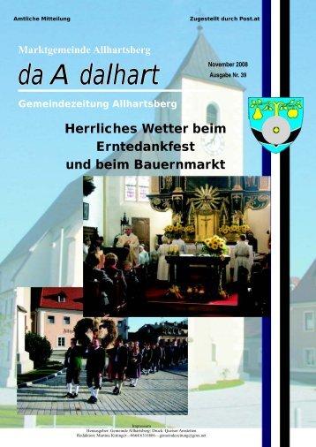 Achtung! - Marktgemeinde Allhartsberg