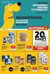 Eröffnungsflugblatt DAS FUTTERHAUS Eisenstadt