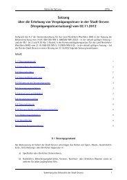 Satzung über die Erhebung von Vergnügungssteuer ... - Stadt Greven