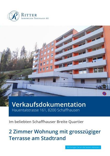 Verkaufsdokumentation Hauentalstrasse 161, 8200 Schaffhausen
