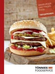 Datenblatt Foodservice Hamburger Fingerfood