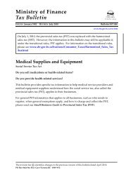 Bulletin SST 006 Medical Supplies and Equipment