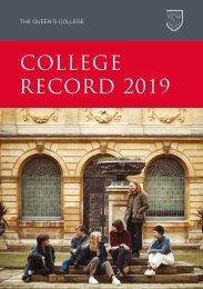 College Record 2019