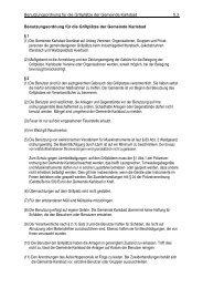 Benutzungsordnung für die Grillplätze der Gemeinde Karlsbad