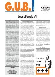 LeaseFonds VII - G.U.B.-Fondsguide