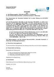 """Neue Ortsmitte Auerbach"""", 2. Änderung - Gemeinde Karlsbad"""