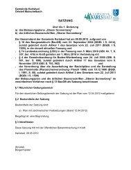 1. Änderung - Gemeinde Karlsbad