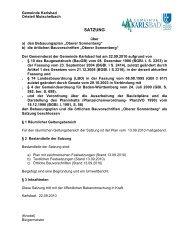 planungsrechtliche festsetzungen - Gemeinde Karlsbad