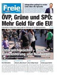 ÖVP, Grüne und SPÖ: Mehr Geld für die EU!