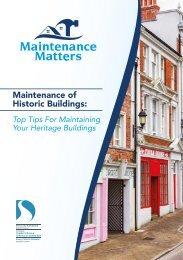 Maintenance Matters: Protecting Historic Buildings
