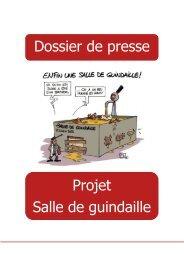 Dossier de presse - projet salle de guindaille