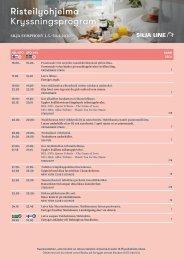 Cruise Program Silja Symphony FIN&SWE   1.3.–30.4.2020