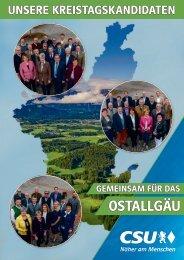 Unsere Kreitagskandidaten - Gemeinsam für das Ostallgäu - CSU