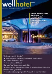 wellhotel  Sonderheft Quellenhof Resort