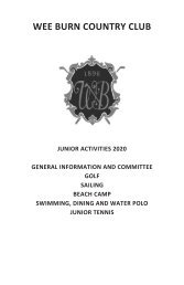 Junior Activities 2020