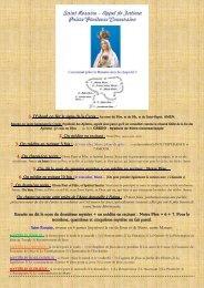 Saint Rosaire - Appel de Fatima