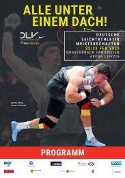 Das Programm zu den Deutschen Hallenmeisterschaften 2020