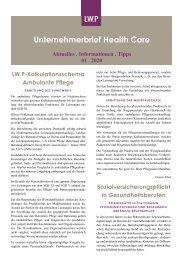 Unternehmerbrief Health Care 01/2020
