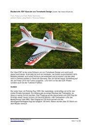 Baubericht: EDF ViperJet von Tomahawk Design (Quelle: http://www ...