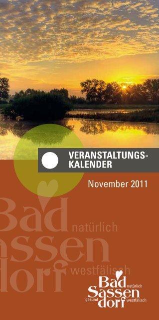 veraNstaLtuNGskaLeNder November 2011 - Bad Sassendorf