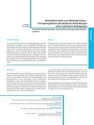 Muskeldystrophie vom Gliedergürteltyp ± Therapieergebnisse ...