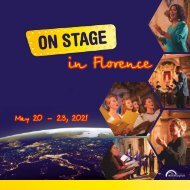 ON STAGE Florence 2021 - Brochure
