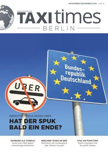 Taxi Times Berlin - November / Dezember 2019