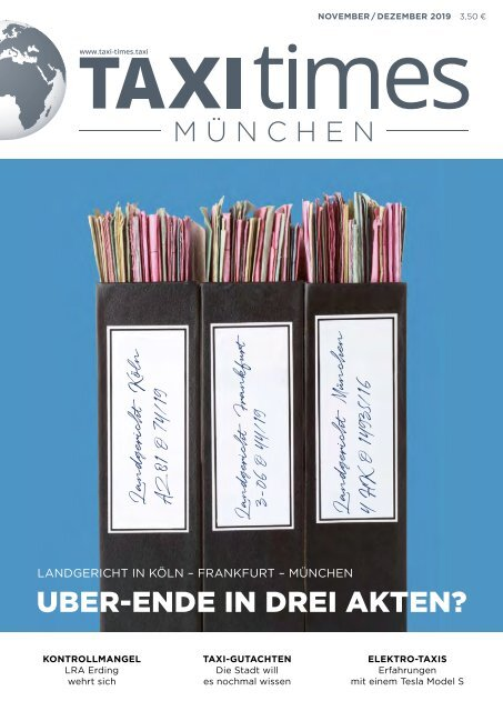 Taxi Times München -  November / Dezember 2019