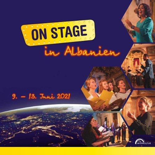 ON STAGE Albanien 2021 - Broschüre