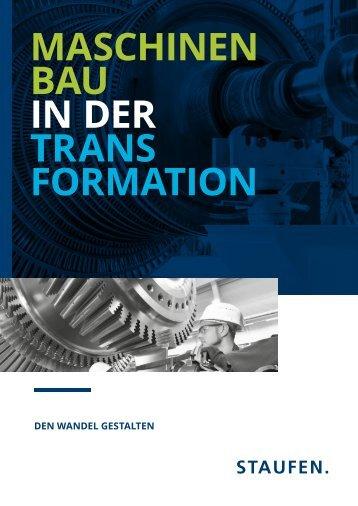 Broschüre: Maschinenbau in der Transformation