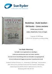 Sue Ryder Oude Boeken (Brugge) - Antique Books (Bruges)