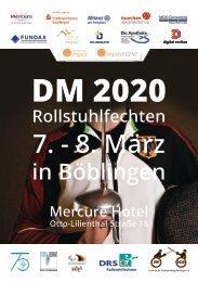 Deutsche Meisterschaft 2020 Rollstuhlfechten