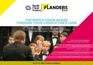 World Choir Games 2020 - Conductor's Program