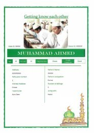 Feedback Ex Hafiz
