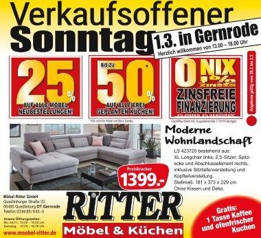 Verkaufsoffener Sonntag Gernrode 1.3.2020