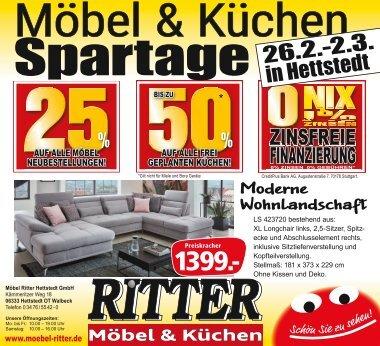 Möbel & Küchen Spartage in Hettstedt vom 26.2.-2.3.2020