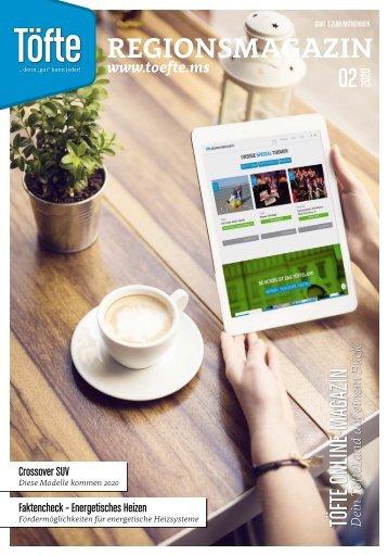 Töfte Regionsmagazin 02/2020 - Wir sind Online!