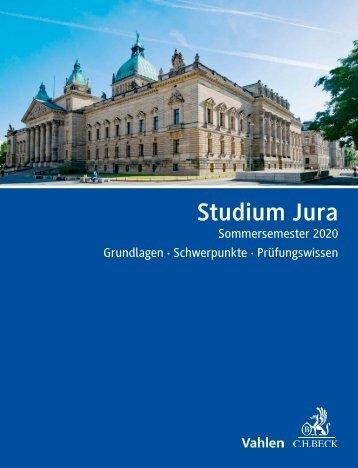 Studium Jura SoSe 2020