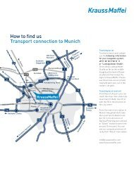 How to find us Transport connection to Munich - Krauss Maffei