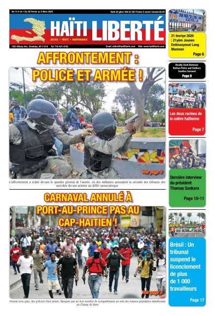 Haiti Liberte 26 Fevrier 2020