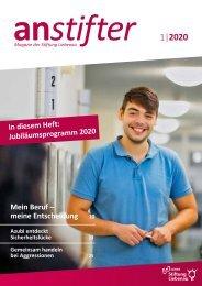 Anstifter 1, 2020 der Stiftung Liebenau