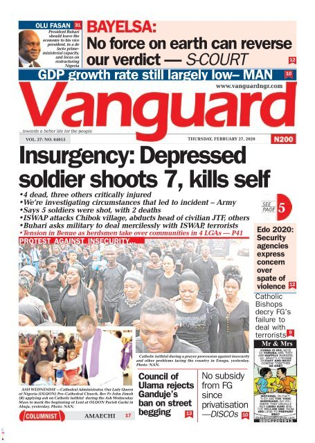 27022020 - Insurgency: Depressed soldier shoots 7, kills self